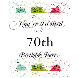 Personalized 70th Birthday Party Invitations