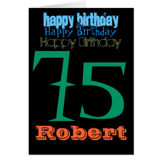 Personalized 75th Birthday Greeting Card