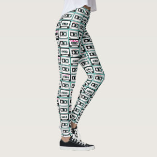 Personalized 80's Mixed Cassette Tape Leggings