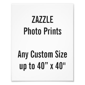 "Personalized 8"" x 10"" Photo Print, or custom size"
