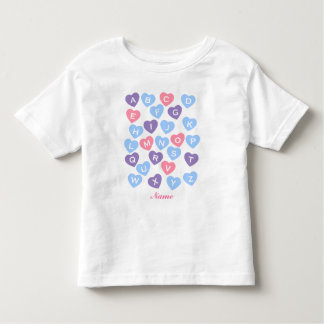 Personalized ABCs Shirt, Alphabet Shirt, Hearts Toddler T-Shirt