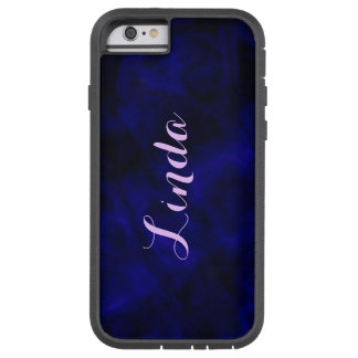 Personalized Abstract Blue iPhone Tough Case