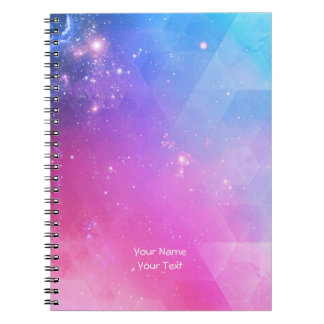 Personalized Abstract Geometric Sky Galaxy Notebook