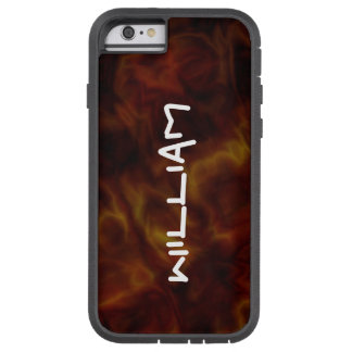 Personalized Abstract Red / Gold iPhone Tough Case