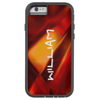 Personalized Abstract Red / Gold iPhone Tough Case Tough Xtreme iPhone 6 Case