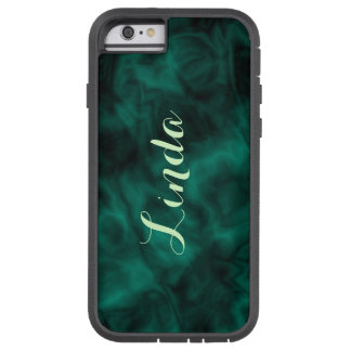 Personalized Abstract Teal Green iPhone Tough Case Tough Xtreme iPhone 6 Case