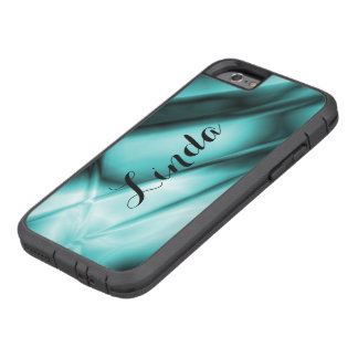 Personalized Abstract Teal iPhone Tough Case