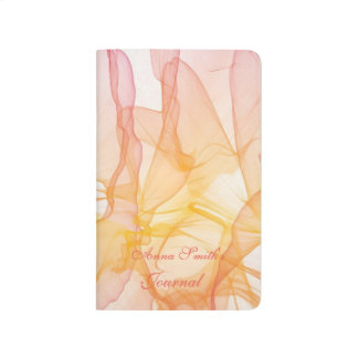 Personalized abstract watercolor pattern journals