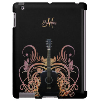 Personalized Acoustic Guitar Music iPad Case