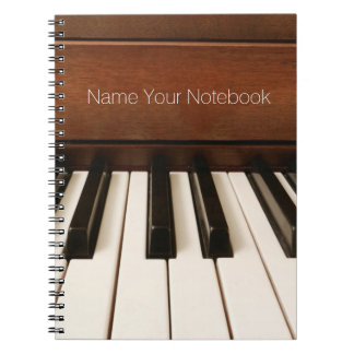 Personalized Acoustic Piano Music Notebook