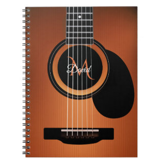 Personalized Acoustic Steel String Guitar Notebook