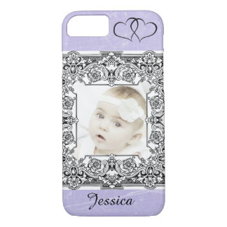 Personalized Add Baby Photo Purple Cell Phone Case