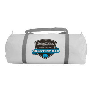Personalized Add Greatest Dad's Name And Date Gym Duffel Bag