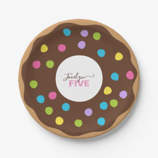 Personalized, Add Name & Age, Donut Birthday Party Paper Plate