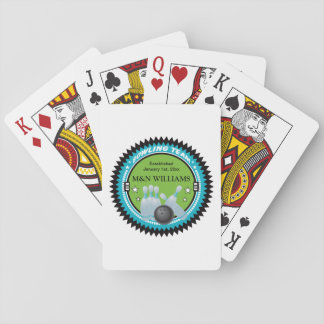 Personalized Add Your Name Bowling Team Logo Playing Cards