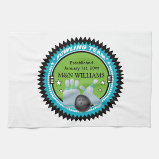 Personalized Add Your Name Bowling Team Logo Tea Towel