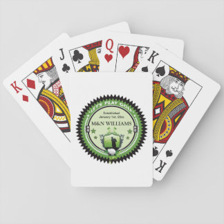 Personalized Add Your Name Play Golf Logo Playing Cards