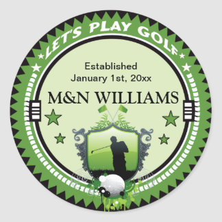 Personalized Add Your Name Play Golf Logo Sticker