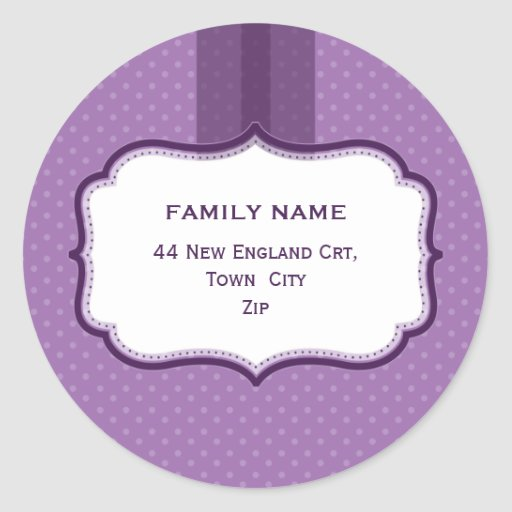 PERSONALIZED ADDRESS SEALS :: lustre 6 Stickers