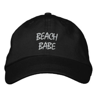 Personalized Adjustable Hat- BEACH BABE Embroidered Hat