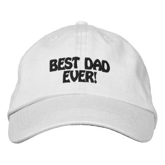 Personalized Adjustable Hat best dad ever Embroidered Baseball Caps