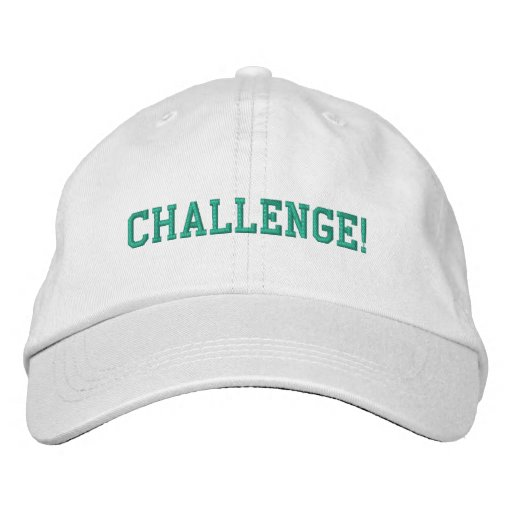 Personalized Adjustable Hat-Challenge Embroidered Baseball Cap
