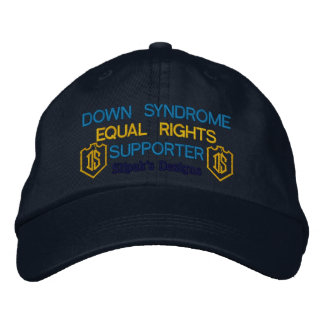 Personalized Adjustable Hat, Down Syndrome Embroidered Hat
