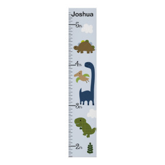 Personalized Adorable Dinosaur Growth Chart