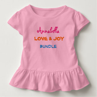 PERSONALIZED Adorable Toddler Ruffle Tees