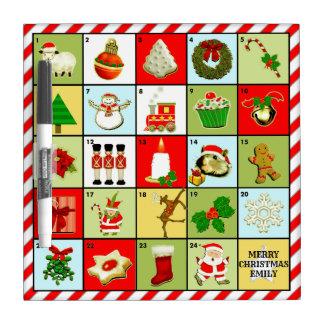 personalized Advent Calendar Dry Erase Board