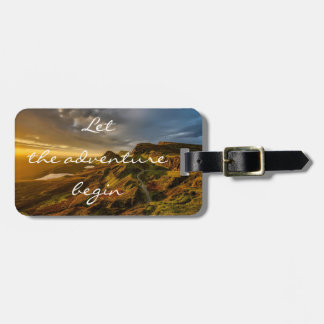 Personalized|| adventure|| Scotland Luggage Tag