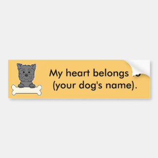 Personalized Affenpinscher Bumper Sticker