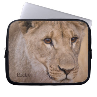 Personalized African Lion Laptop Sleeve