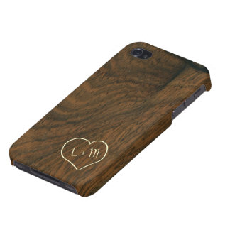 Personalized Aged Mahogany Wood Texture Case For iPhone 4