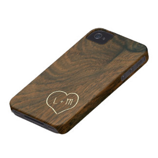 Personalized Aged Mahogany Wood Texture iPhone 4 Cover