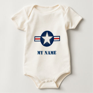 Personalized Air Force Infant Organic Creeper