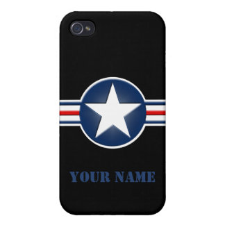Personalized Air Force Logo iPhone 4/4S Case