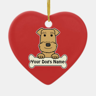 Personalized Airedale Terrier Ceramic Heart Decoration