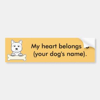 Personalized Akita Bumper Sticker