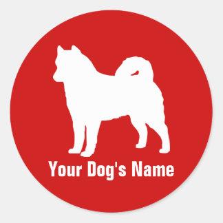 Personalized Alaskan Malamute アラスカン・マラミュート Sticker
