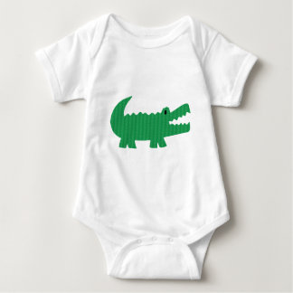 Personalized alligator print baby bodysuit