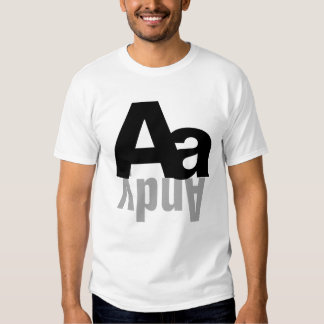 Personalized Alphabet Letter Monogram Name T-shirt