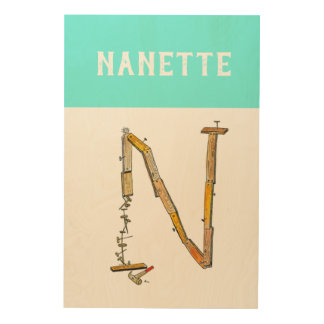 Personalized Alphabet Letter N wall art