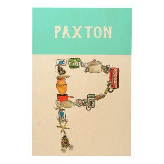 Personalized Alphabet Letter P wall art
