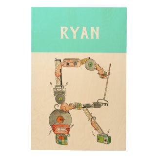 Personalized Alphabet Letter R wall art
