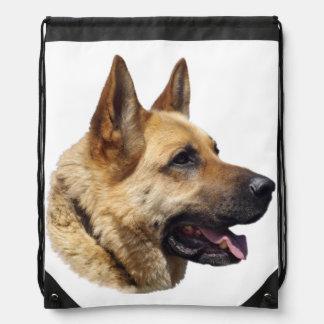 Personalized Alsatian German Shepherd dog Rucksacks