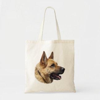 Personalized Alsatian German Shepherd dog Budget Tote Bag