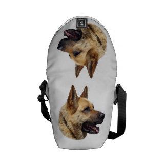 Personalized Alsatian German Shepherd dog Courier Bags