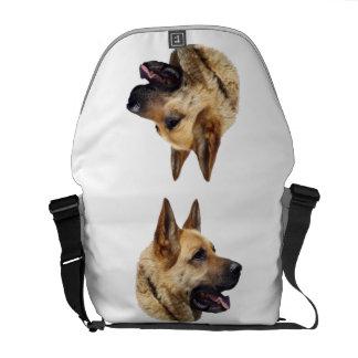Personalized Alsatian German Shepherd dog Courier Bag