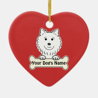 Personalized American Eskimo Christmas Ornament